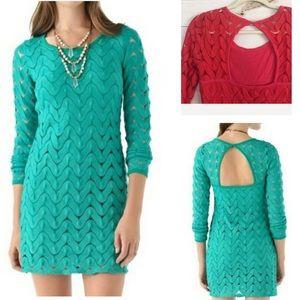 Free People Red Lace Crochet Dress
